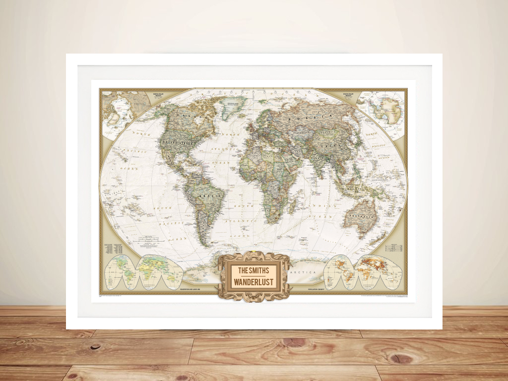 Wanderlust Adventure Push Pin World Map | *Push Pin World Map – Wanderlust