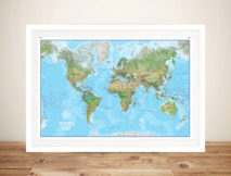 Personalised Push Pin World Map Canvas Art Print Australia