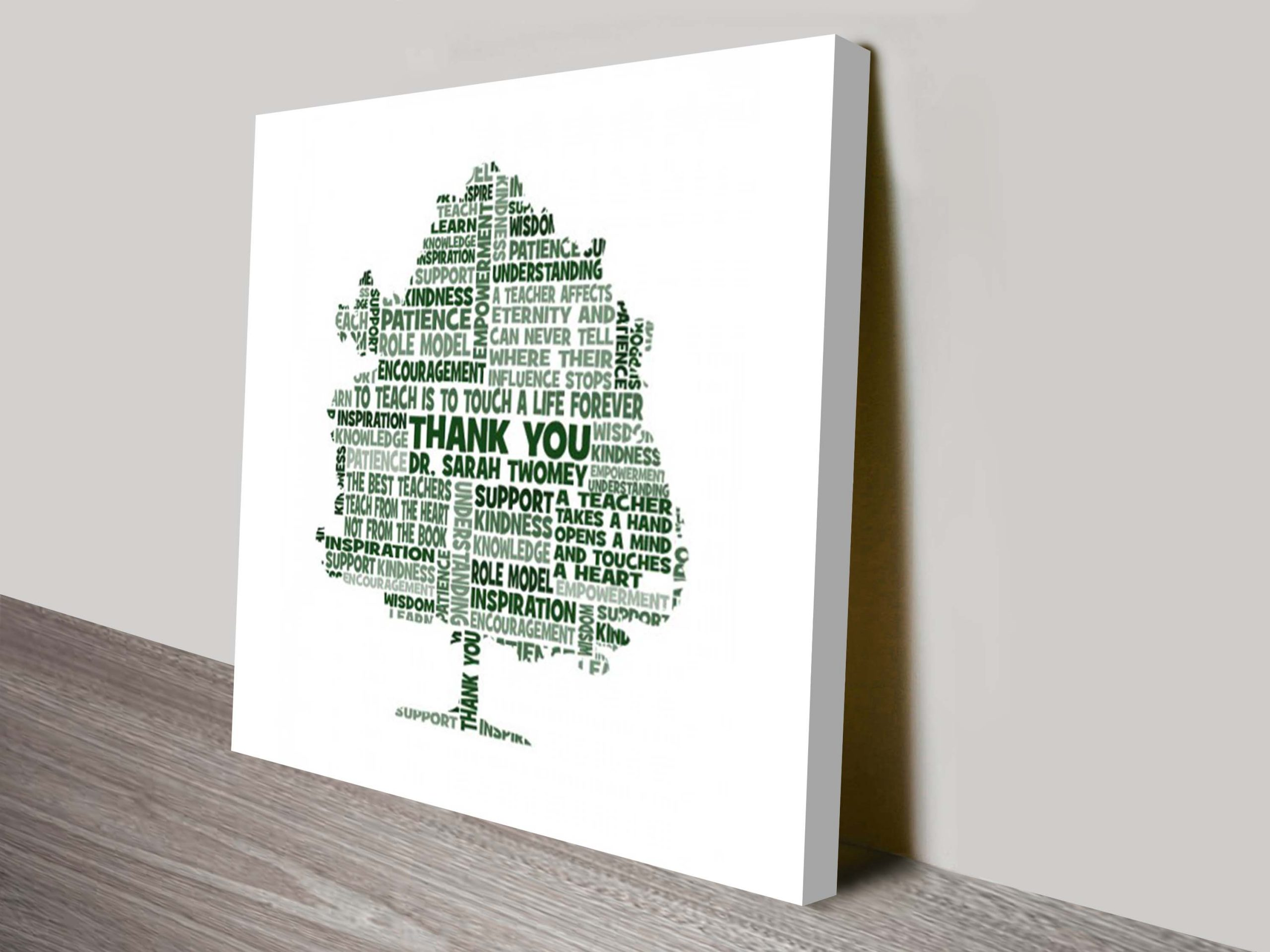 Teacher Personalised Word Art Gift Idea | Teacher Tree