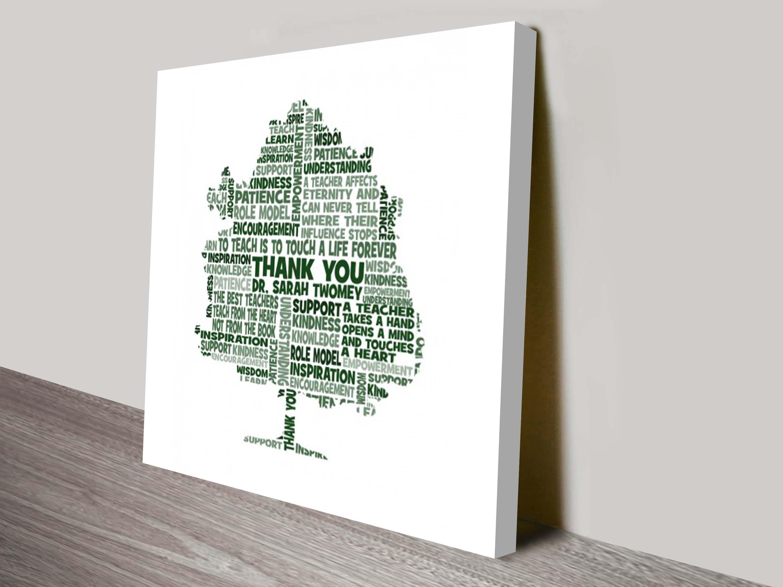 Teacher Personalised Word Art Gift Idea | Teacher Tree