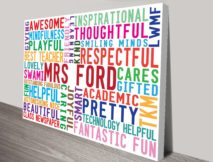 Our Inspiration Personalised Word Art Gift