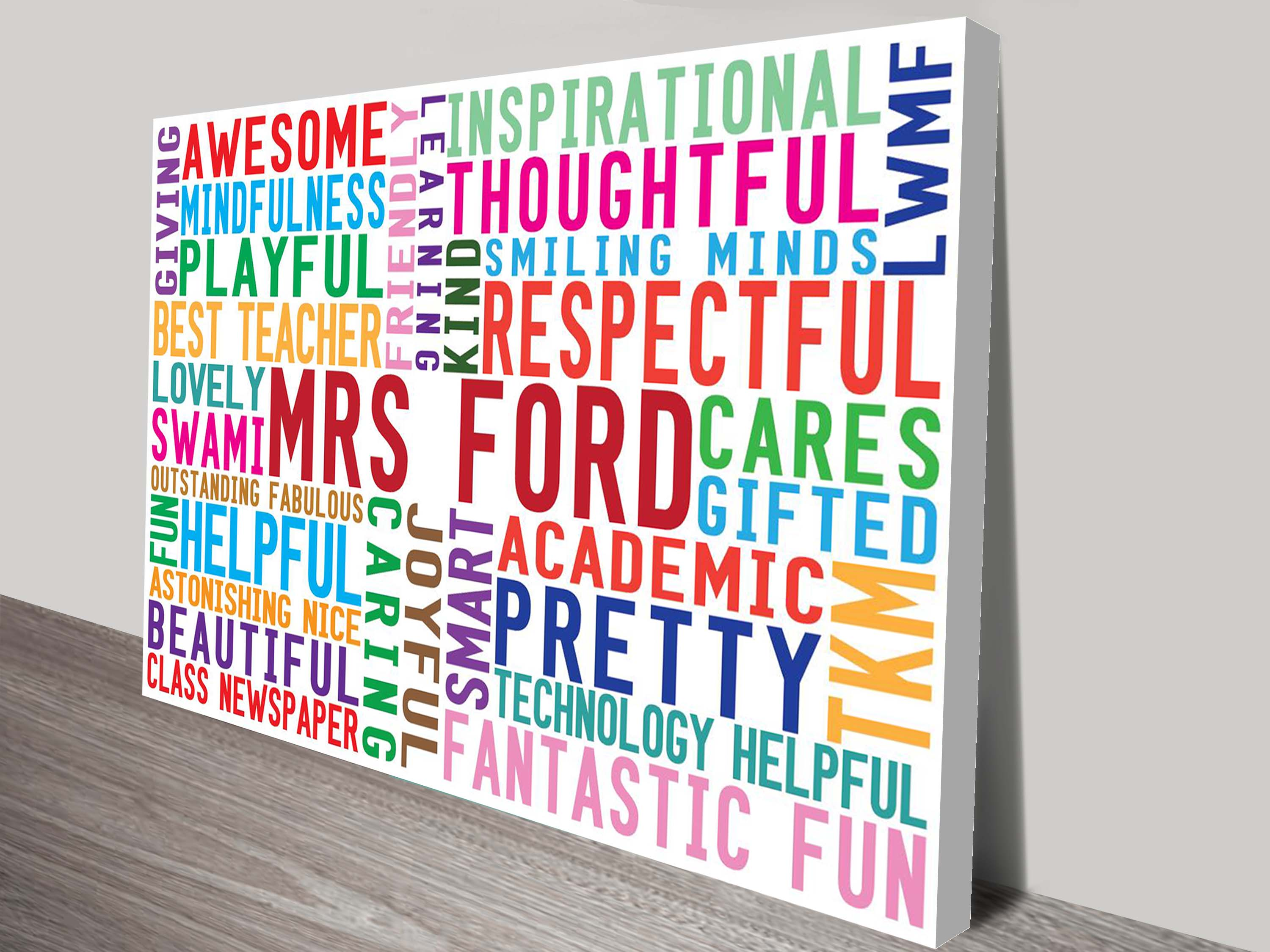 Our Inspiration Personalised Word Art Gift | Our Inspiration