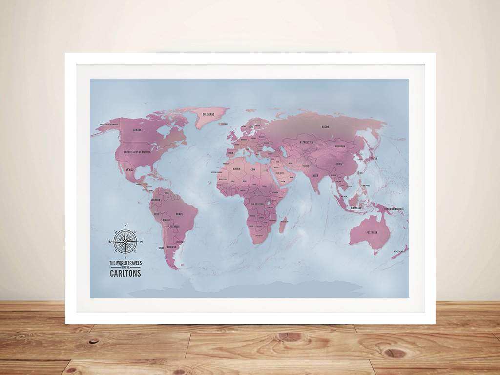 Magenta personalised word art push pin world travel map magenta personalised world map art push pin world map aventuras magenta gumiabroncs Image collections