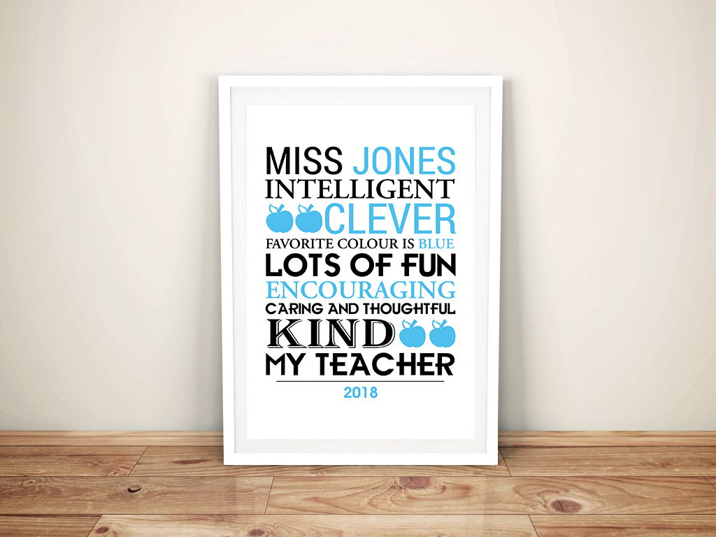 Personalised Teacher Framed Word Art | Our Teacher
