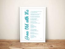 Personalised Poem Word Collage