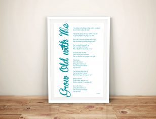 Personalised Poem Word Collage