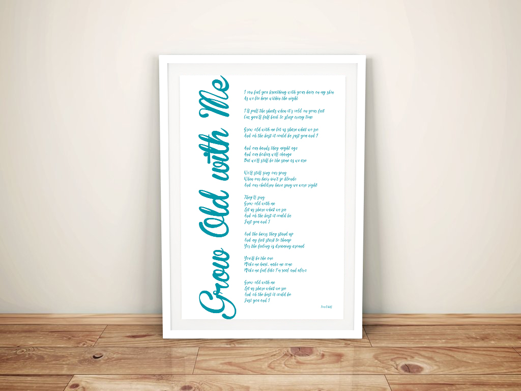 Personalised Poem Word Collage | Grow Old with Me