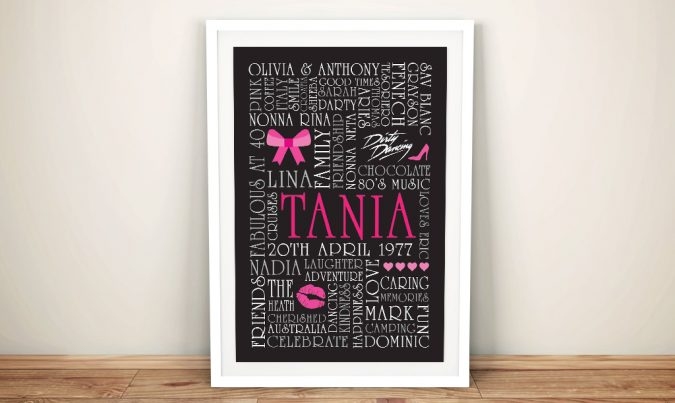 Pink Bows Custom Word Art Gift idea for Girls