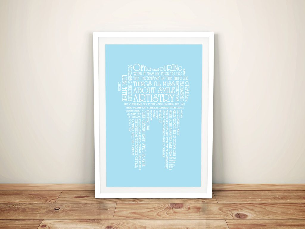 tooth shaped Framed Word Art