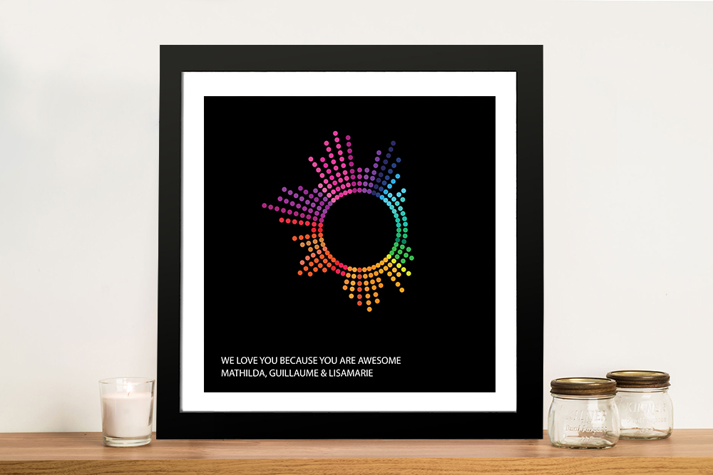 Dotted Beats Personalised Soundwave Art