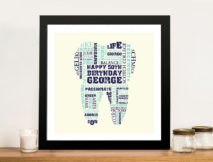 Personalised Dentist Gift Idea Framed Wall Art