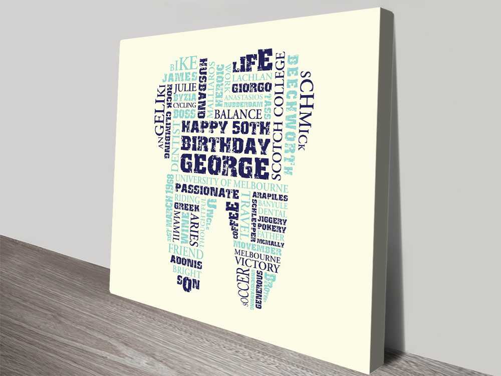 Personalised Dentist Gift Idea Artwork