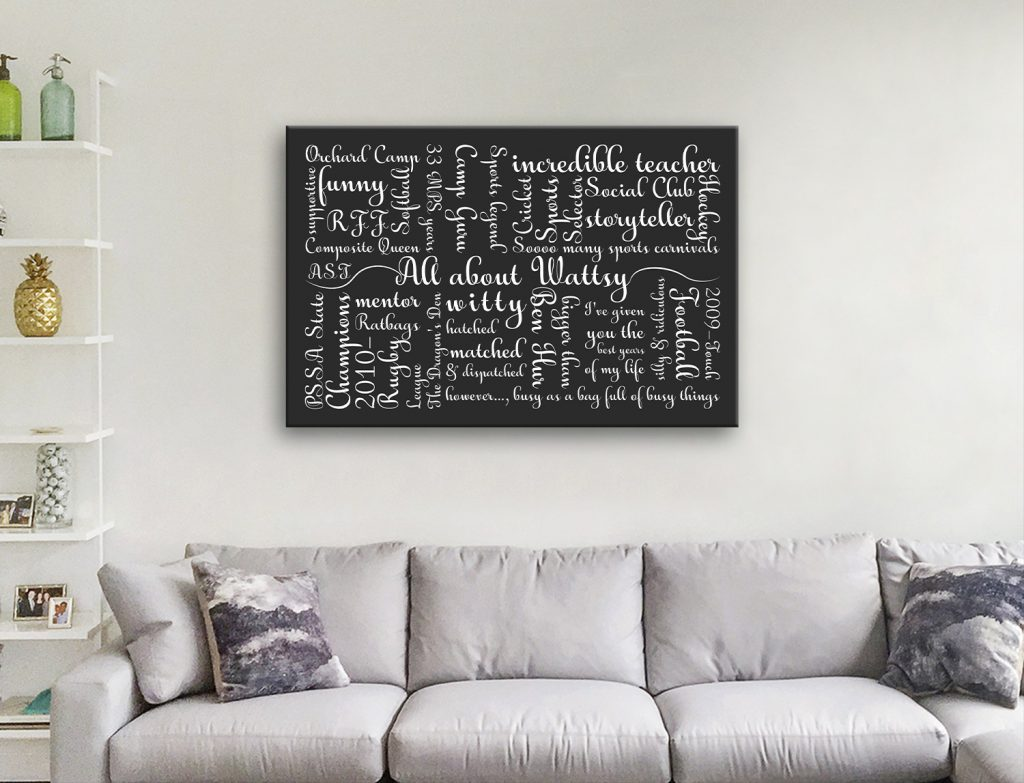 Calligraphy Word Canvas Artwork