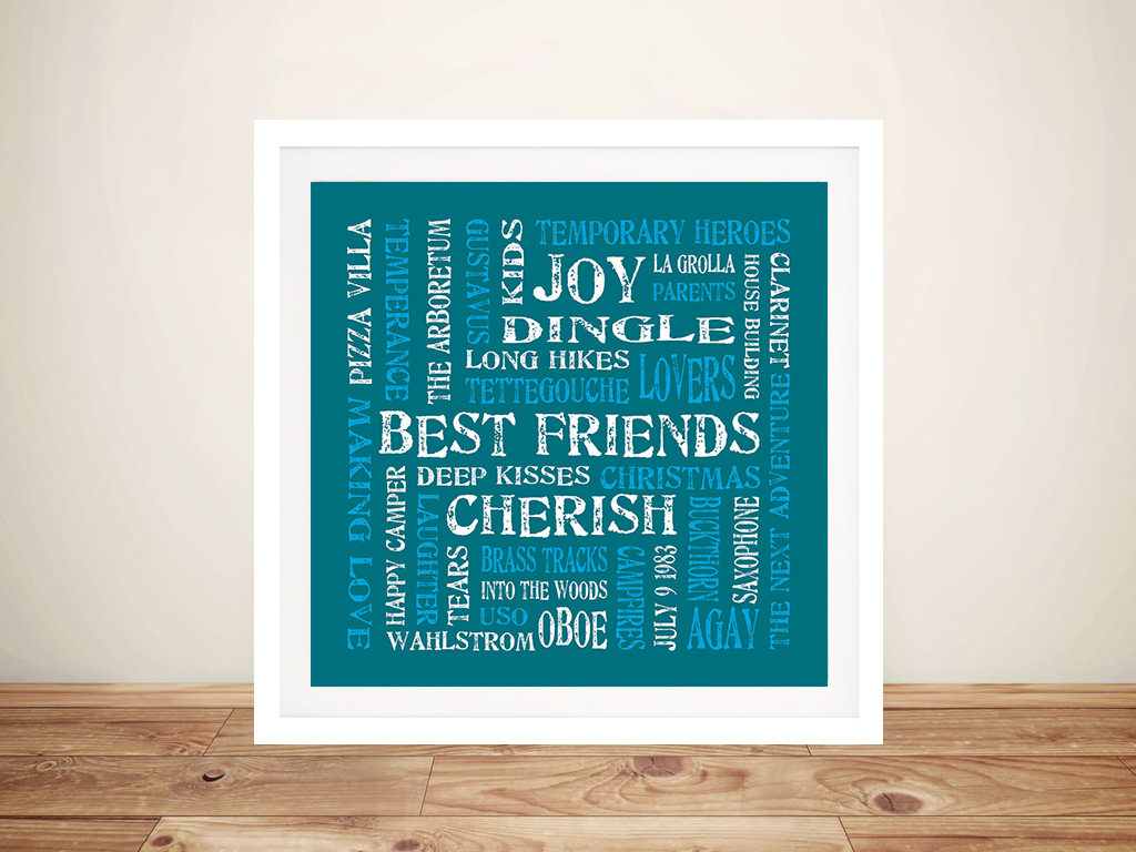 Cherish Custom Romantic Artwork Gift by Beyond a Word
