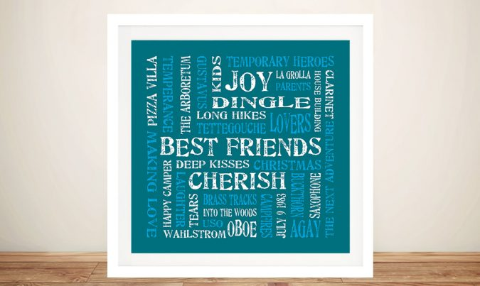 Cherish Custom Romantic Artwork Gift by Beyond a Word