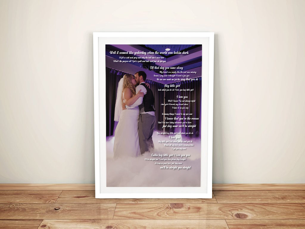 Wedding Mementos Present Idea Wall Art