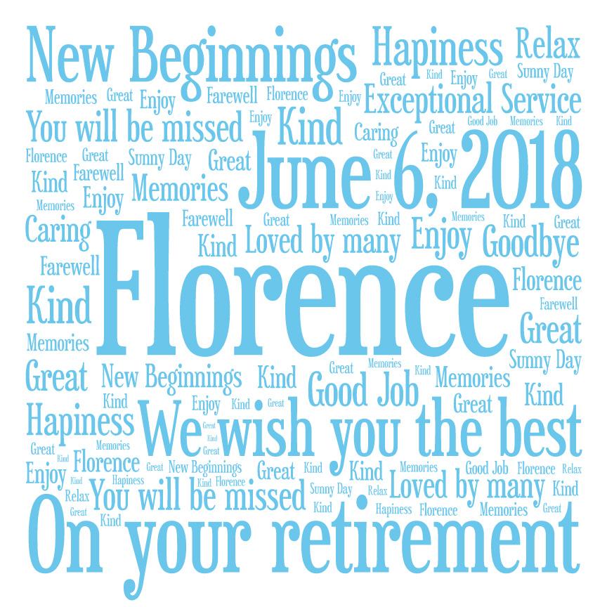 Unique Retirement Word Art Gifts Sydney