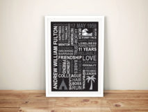 Retirement Art with Clipart Framed gifts Australia
