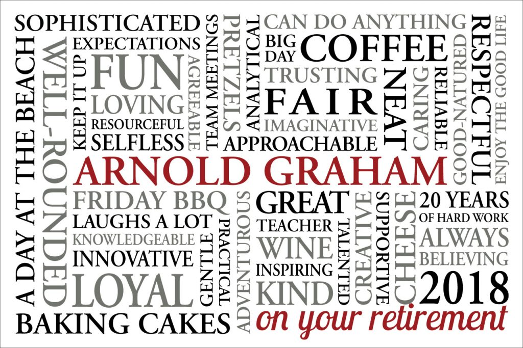 Personalised Retirement Art Gifts