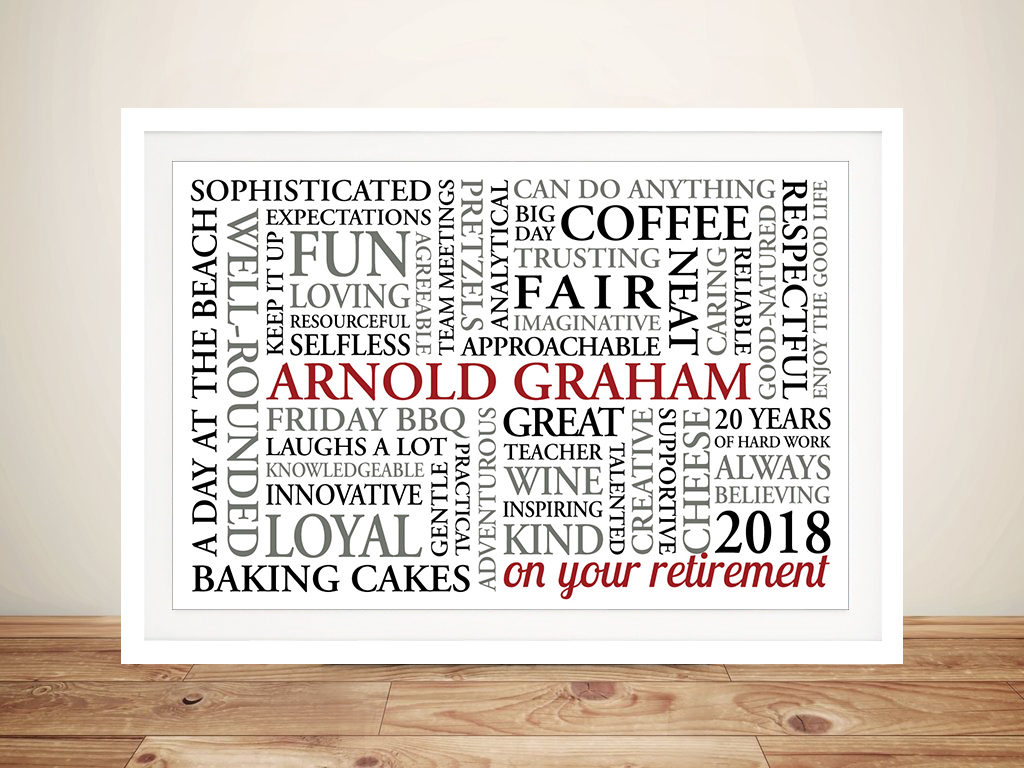 Grateful Wishes Retirement Present Art