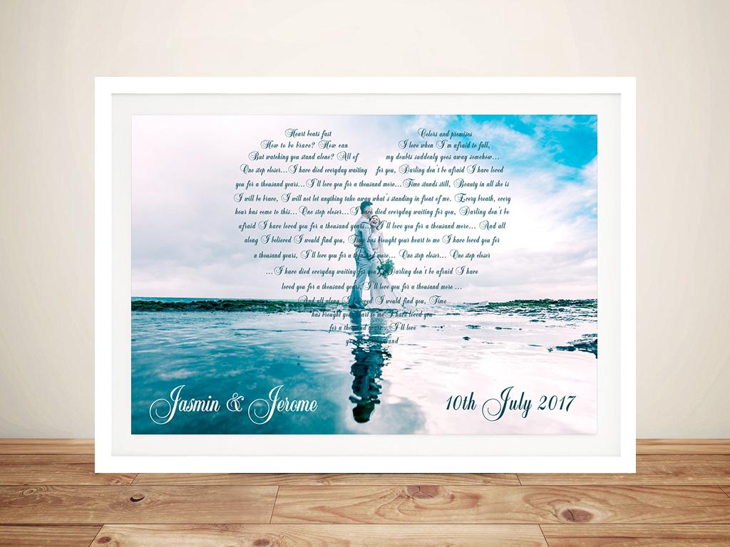 Bespoke Italics Photo Hearts Word Art | Bespoke Italics Photo Hearts