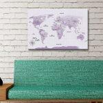 Purple-Shades-World-Map-Canvas-Artwork