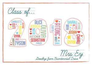 Teacher Class Personalised Thank You Gift Canvas Art
