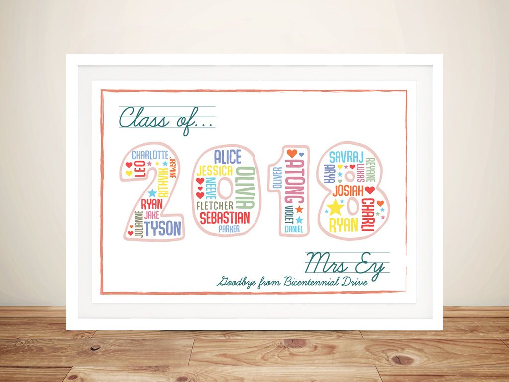 Teacher Personalised Gift Idea Artwork