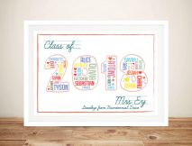 Teacher Personalised Gift Idea Artwork