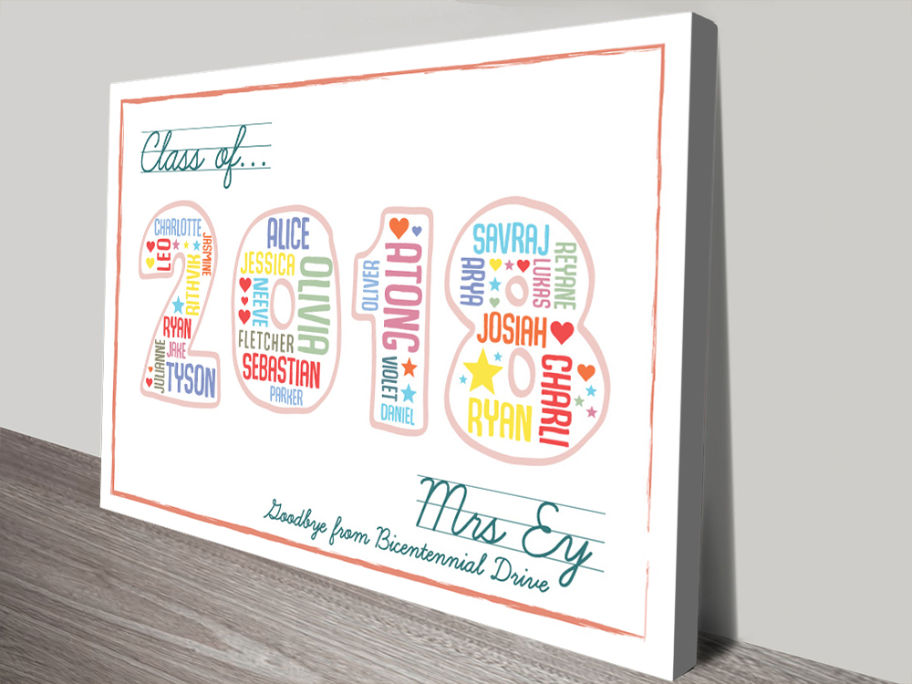 Teacher Amp Class Personalised Thank You Gift Idea Artwork