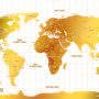 Custom-White-And-Gold-World-Map