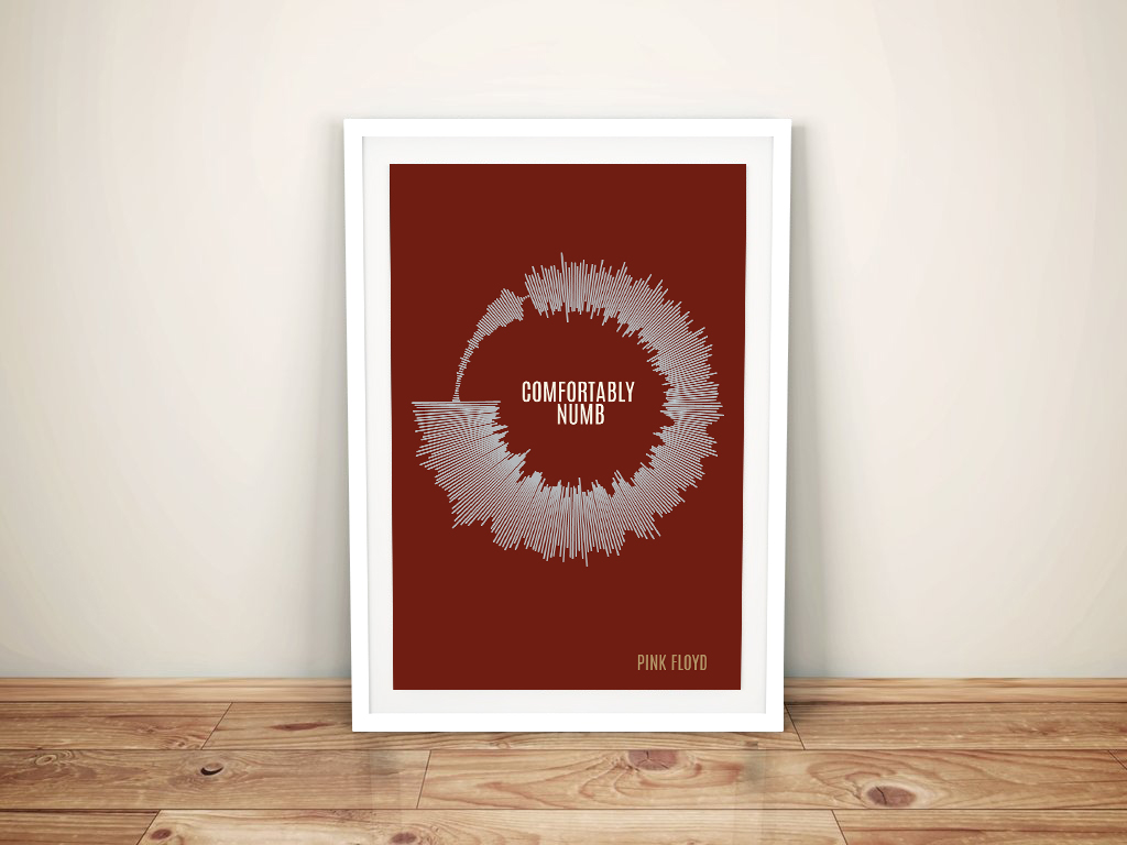 Radial Soundwave with Central Text Wall Art | Radial Soundwave with Song Title