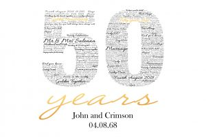 50th Gold Wedding Anniversary Gift