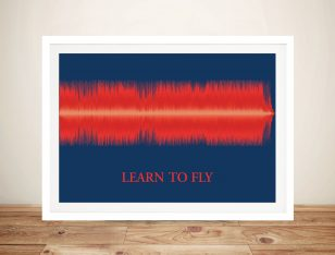 Customised Soundwave Art Framed Wall Art Picture Australia