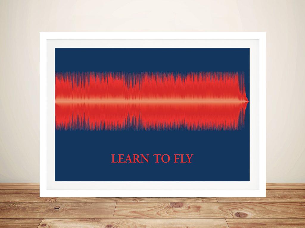 Customised Soundwave Art Framed Wall Art Picture Australia | Soundwave Burning Bold Style