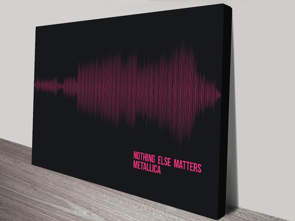 Linear Style Soundwave Art canvas print | Linear Soundwave Artwork