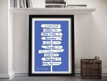 Custom Signpost Framed Wall Art