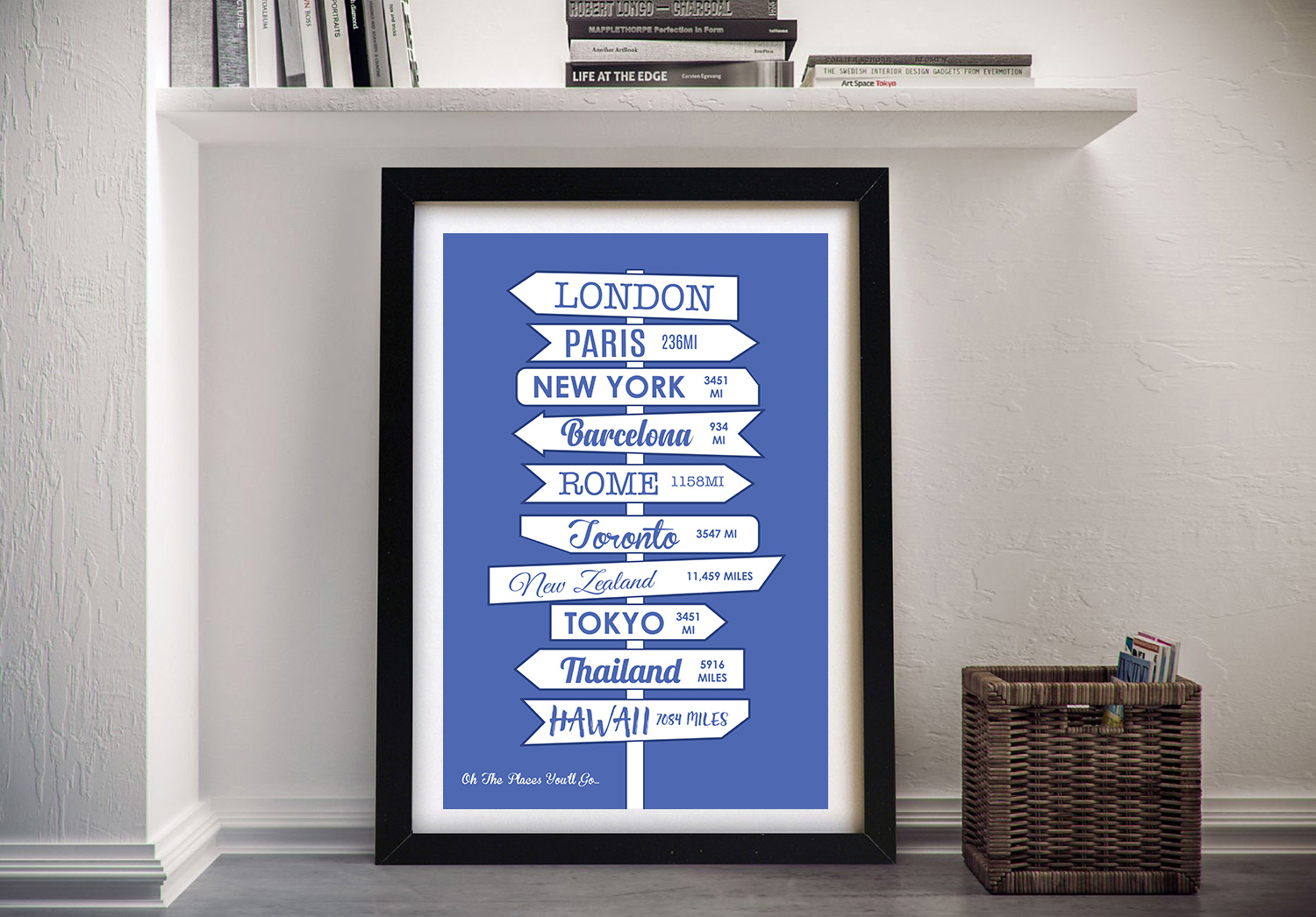 Custom Signpost Framed Wall Art | Our Signpost