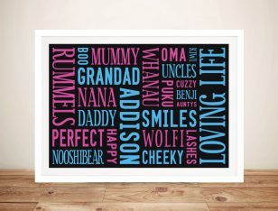 Loving Life Personalised Framed Wall Art