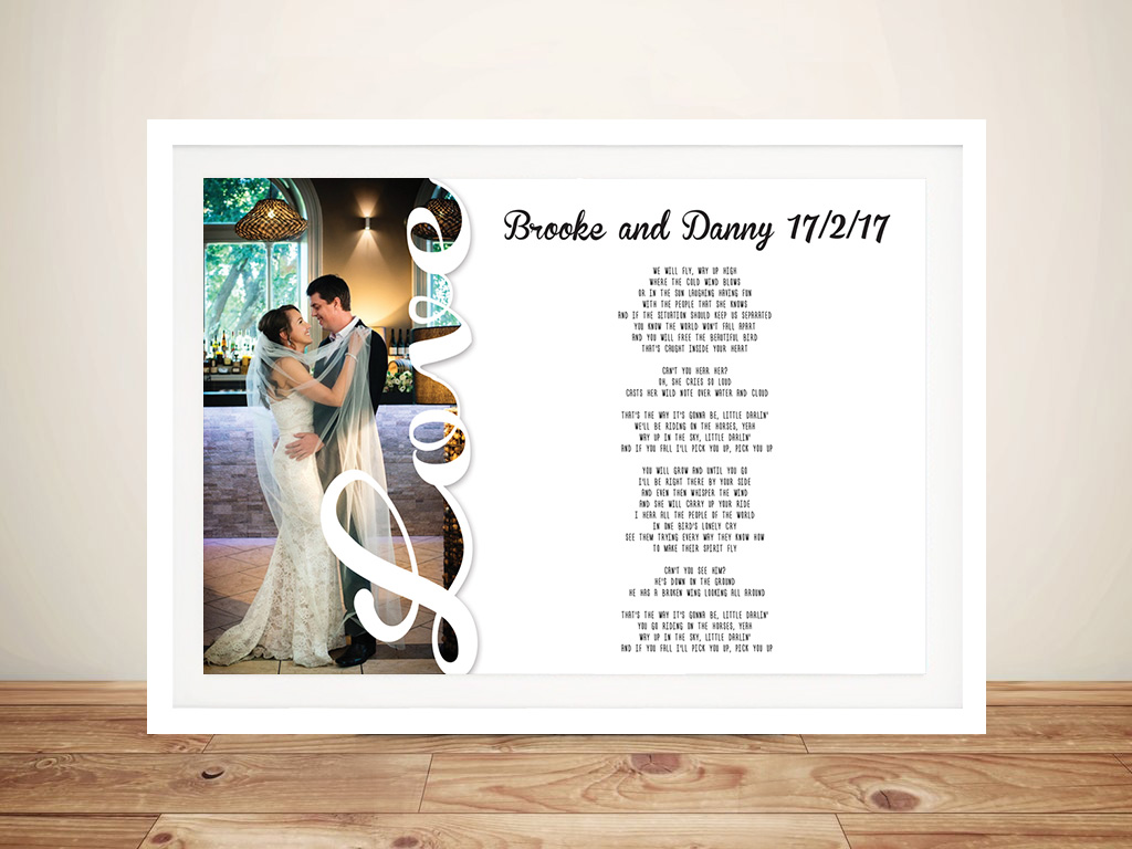 Personalised Photo Word Art Wedding Vows Gift Idea Au | True Love