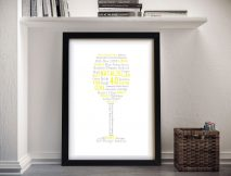 Cheers! Bespoke Typographic Framed Art