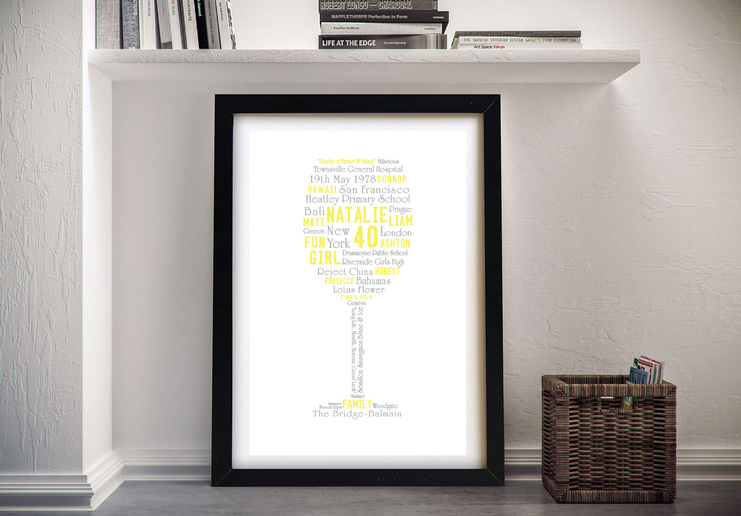 Cheers! Bespoke Typographic Framed Art | Cheers! Bespoke Birthday Gift