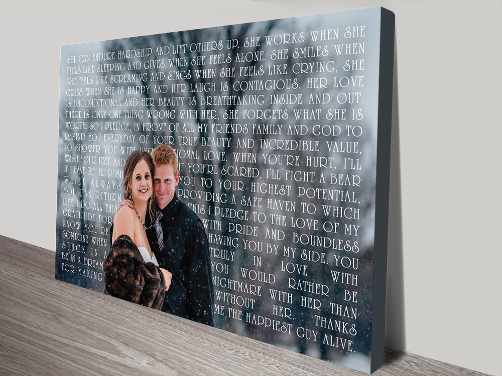 Personalised Photo Word Art Gift Idea