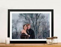 Custom Photo Word Art Wedding Anniversary Gift idea