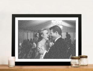Photo Word Art Wedding Anniversary Gift Idea Australia