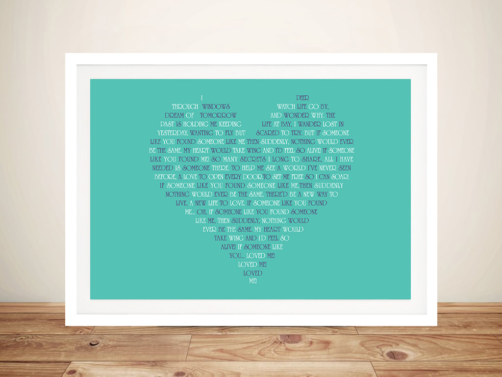 Personalised Wedding Vowels Heart Shape Word Art Gift | Vowels from the Heart