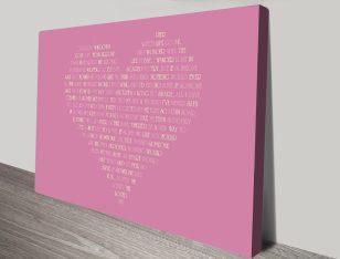 Bespoke Pink Heart Artwork