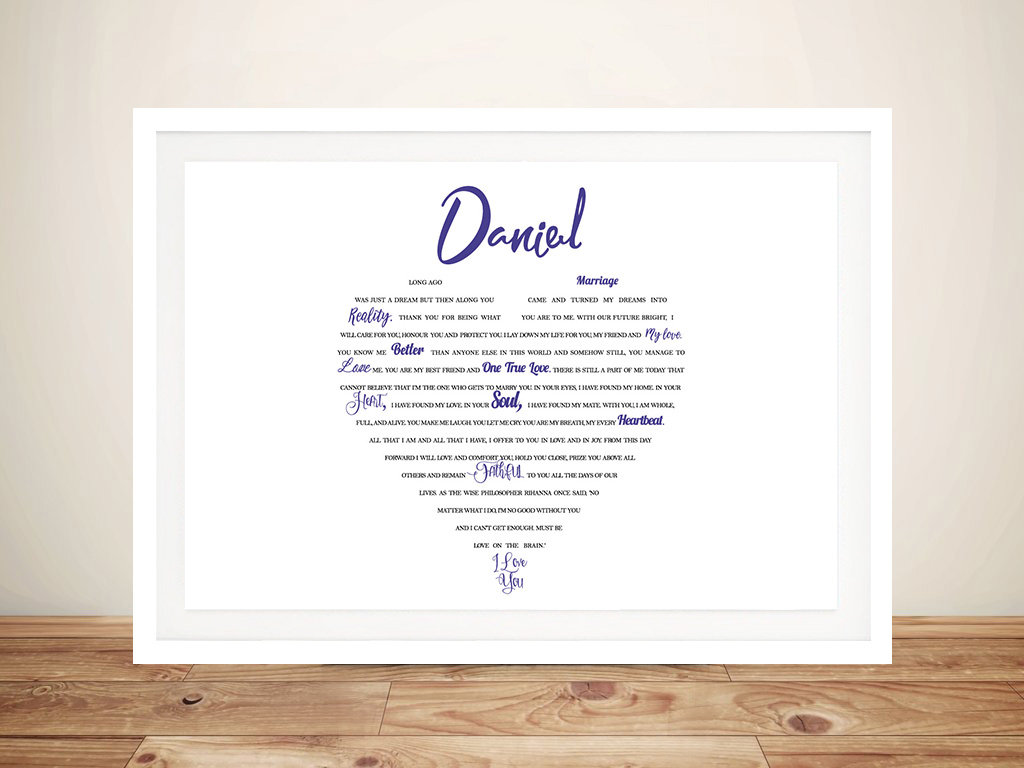 Customised Word Cloud Artwork Online | My Heart is Yours