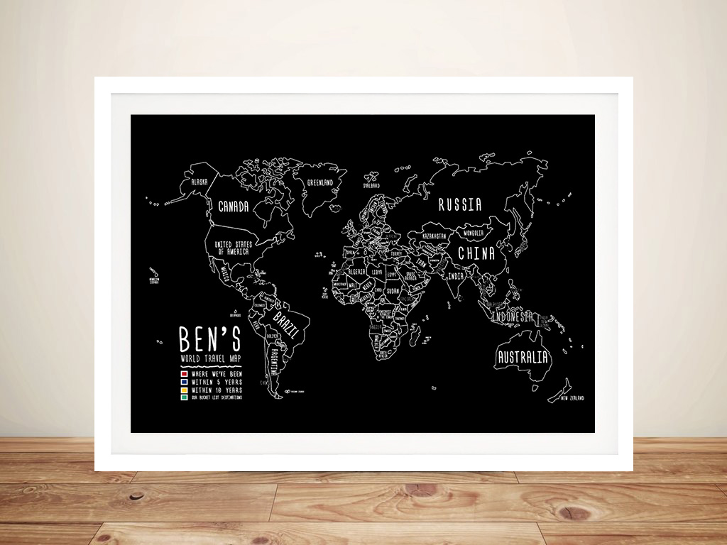 Custom Chalkboard Push Pin Travel Map | Chalkboard Push Pin Map