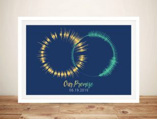 Soundwave Art Circular Framed Wall Print